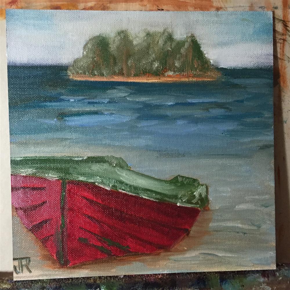 """""""Island Getaway"""" original fine art by Julie Ratcliff"""