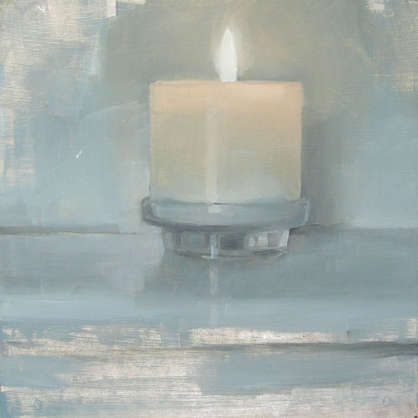 """White Candle (no.56)"" original fine art by Michael William"