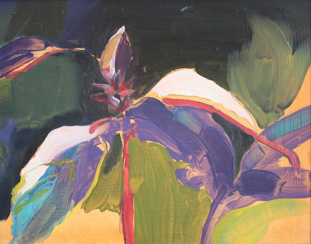 """Purple Basil"" original fine art by Jessie Dodington"