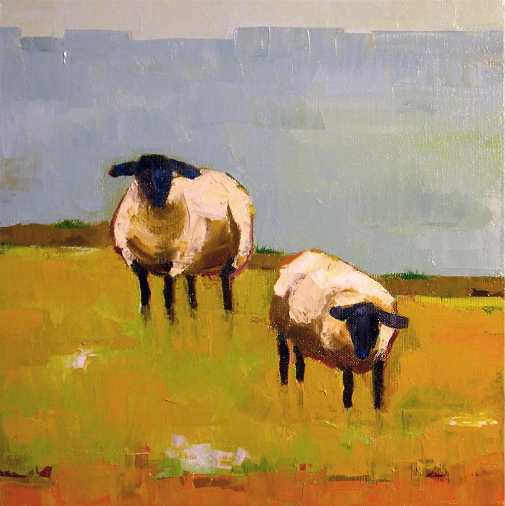 """Sheep Pair"" original fine art by Donna Walker"