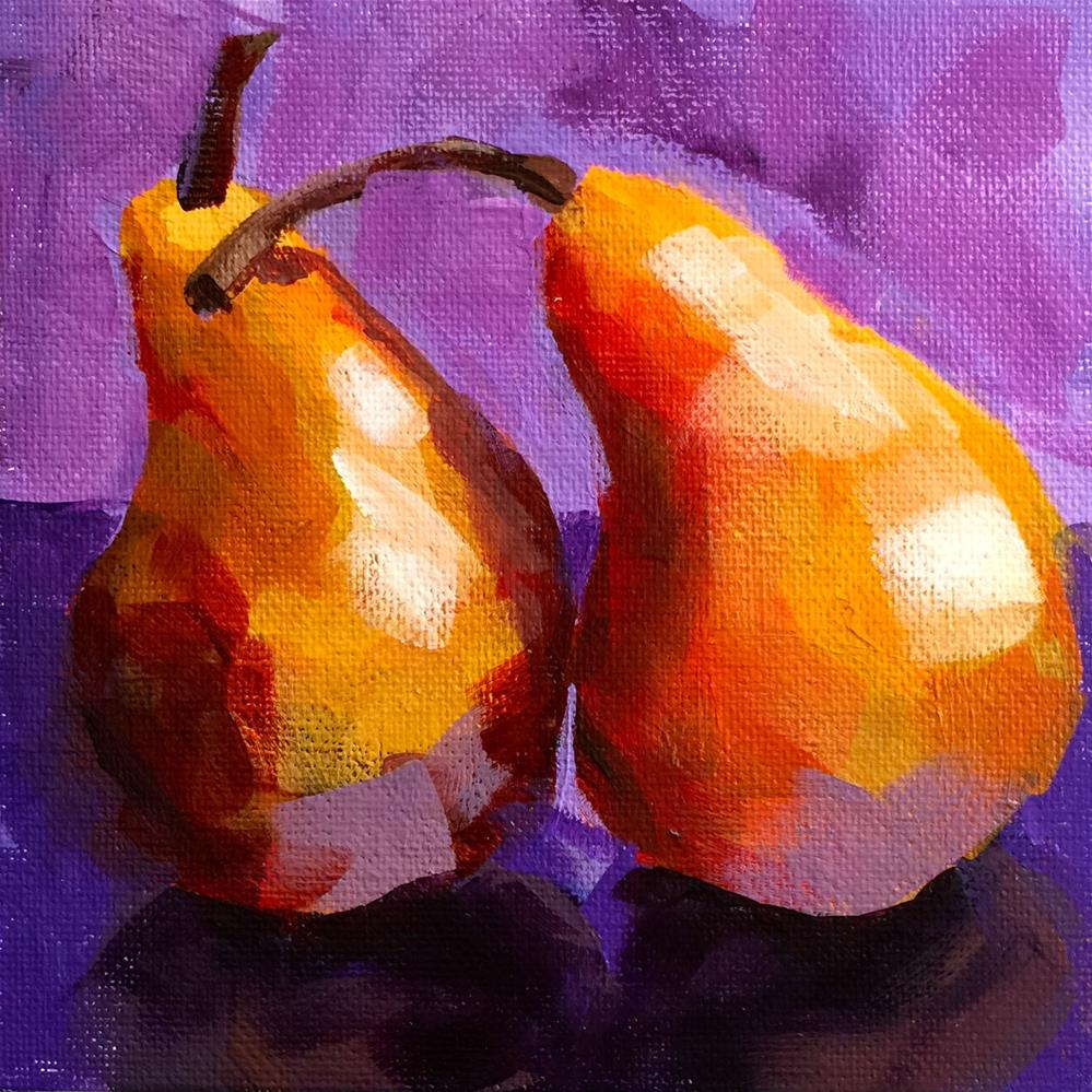 """Golden Pears"" original fine art by Diana Stewart"
