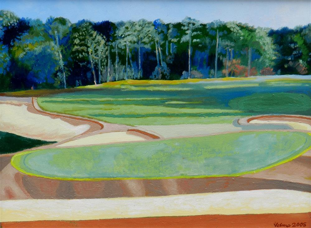 """DeBordieu Golf Course"" original fine art by Velma Davies"