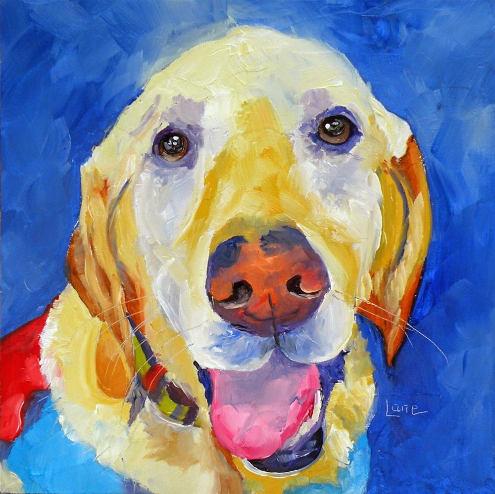 """ROSS THE SUPER DOG 18/100 OF 100 PET PORTRAITS IN 100 DAYS © SAUNDRA LANE GALLOWAY"" original fine art by Saundra Lane Galloway"