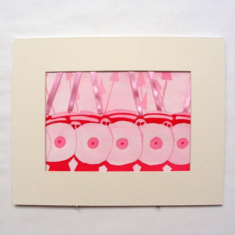 """""""Pink Phalanx"""" original fine art by Bonnie Fillenwarth"""