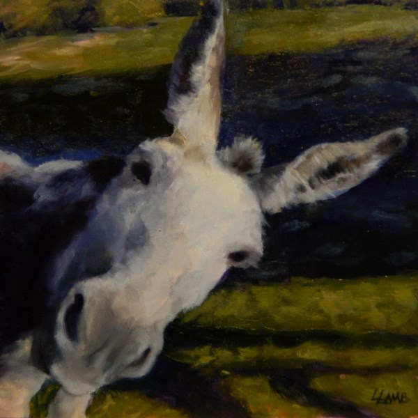 """Well, hello there!"" original fine art by Lori L. Lamb"