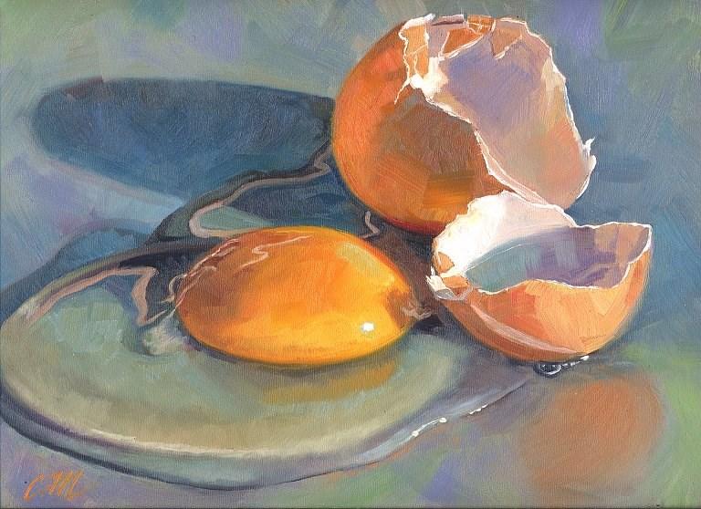 """Cracked"" original fine art by Connie McLennan"