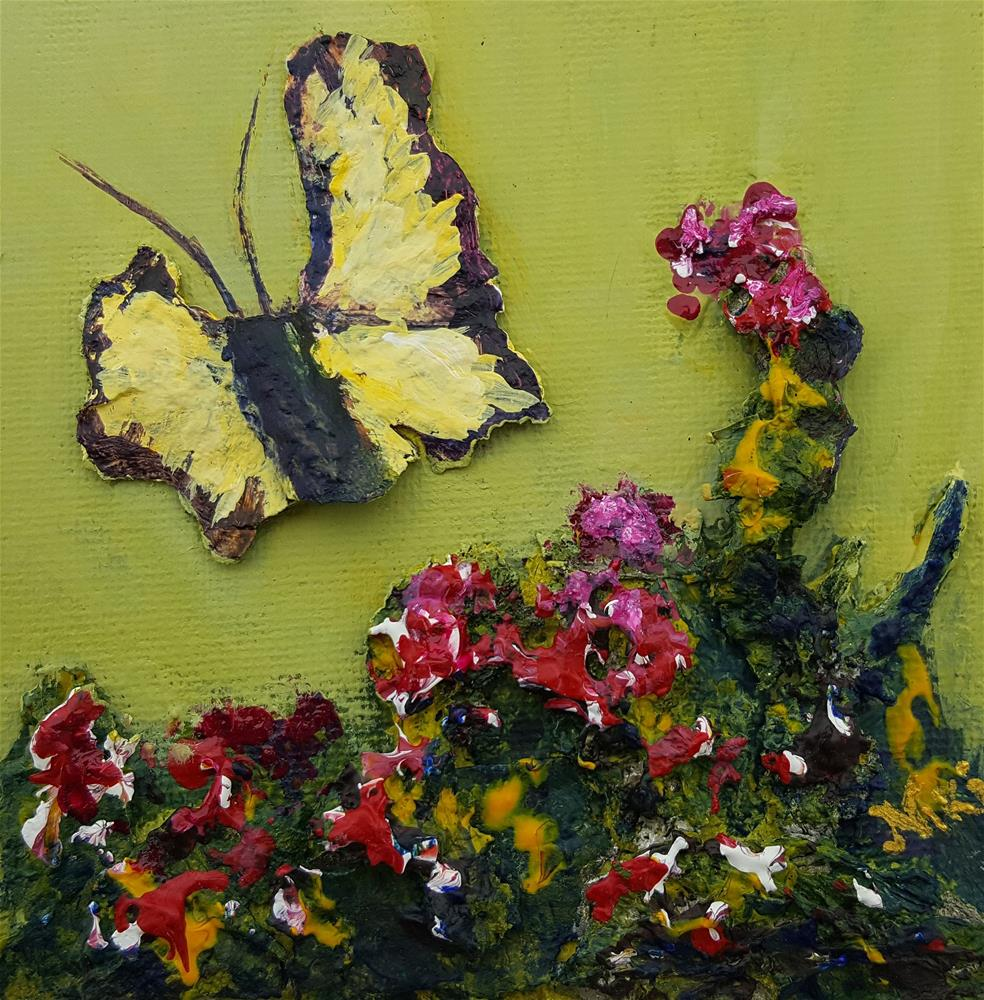 """Mini-Butterfly 1"" original fine art by Niki Hilsabeck"