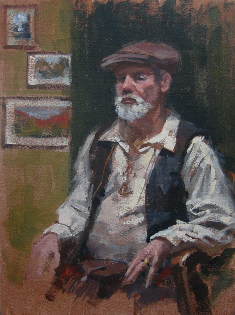 """The Scotsman"" original fine art by Karen Werner"