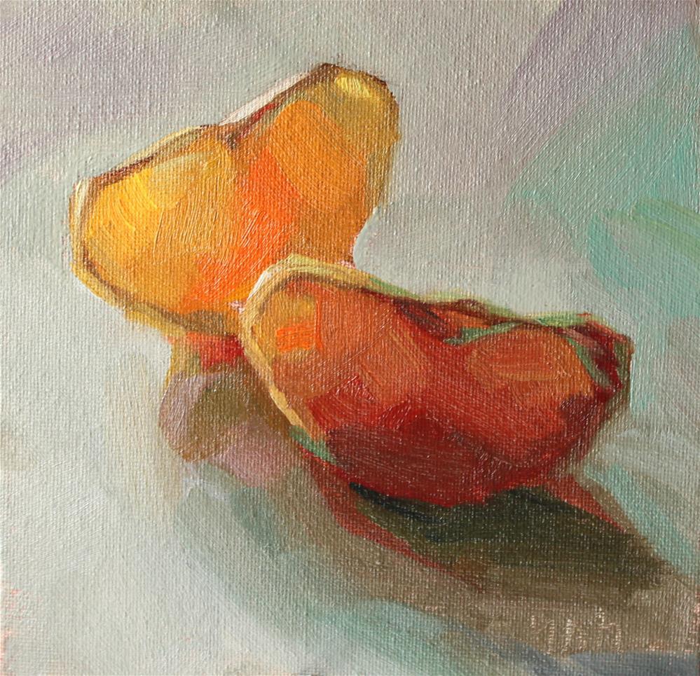 """""""Fruit"""" original fine art by Yuehua He"""