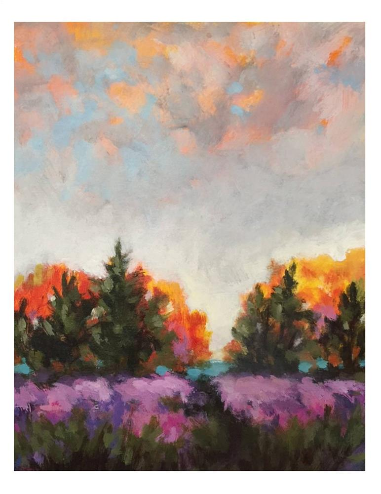 """Purple And Orange"" original fine art by Suzanne Woodward"