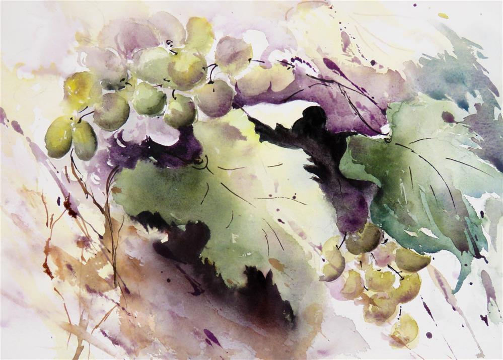 """""""Grapevine I"""" original fine art by Christa Friedl"""