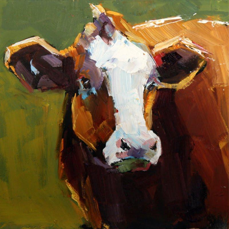 """handsome heifer"" original fine art by Carol Carmichael"