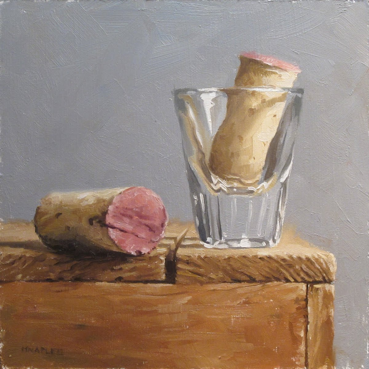 """Cork Shot"" original fine art by Michael Naples"