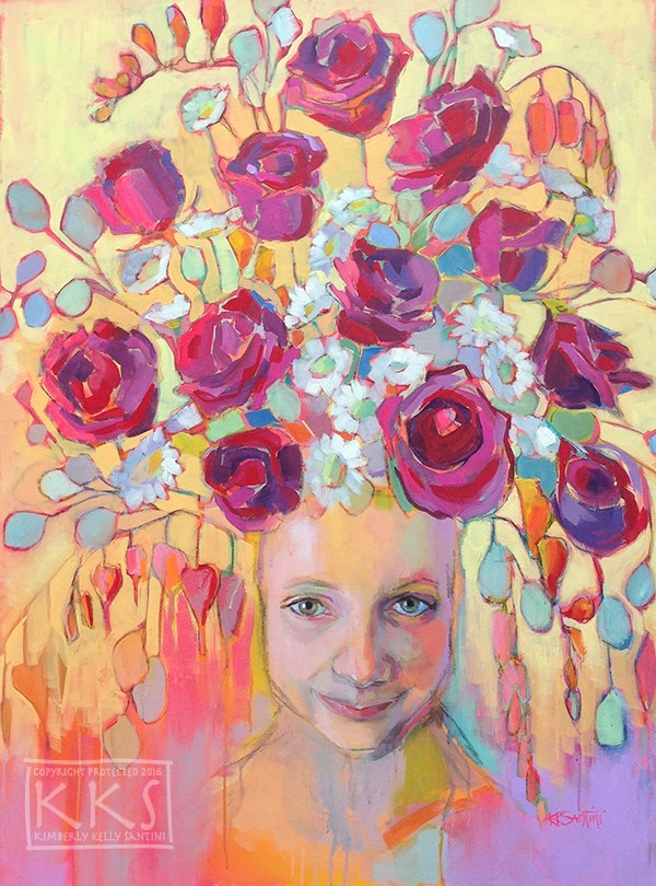 """Rosie, From the Dryad Series"" original fine art by Kimberly Santini"