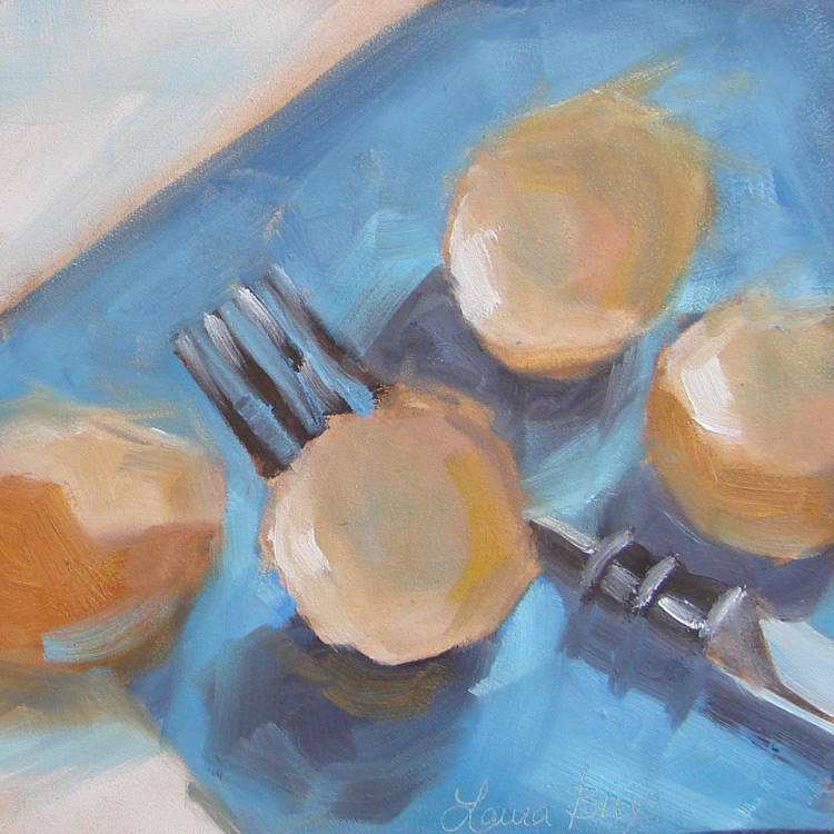 """Fork Full 432"" original fine art by Laura  Buxo"