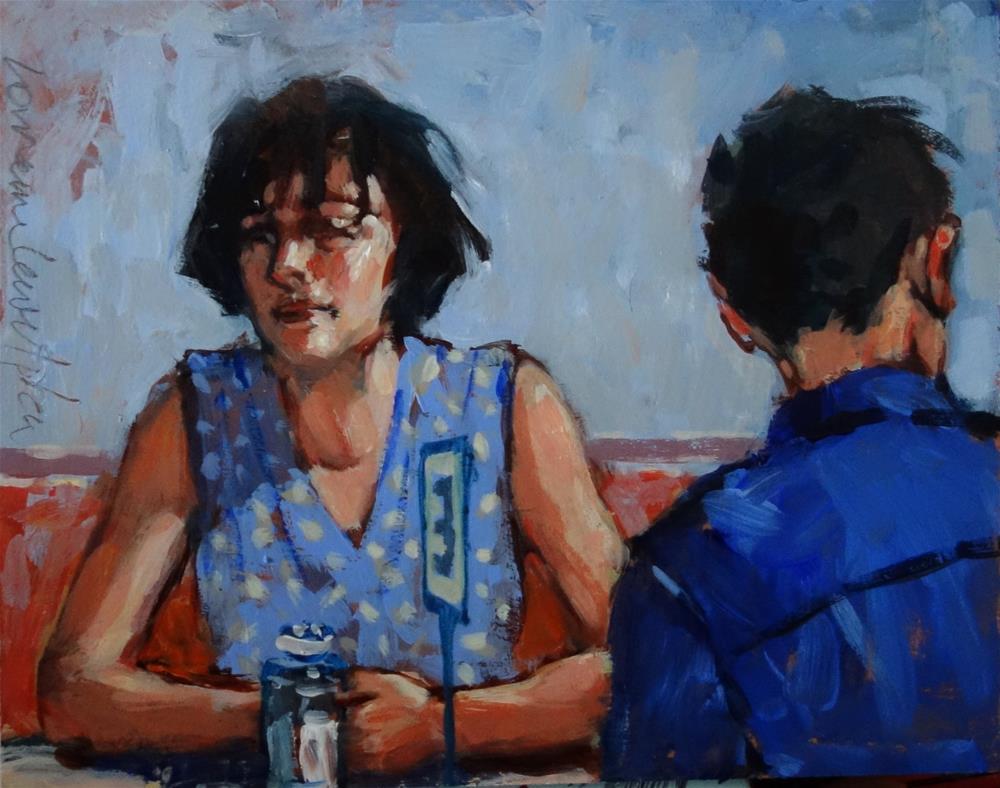 """Bored twosome"" original fine art by Lorraine Lewitzka"