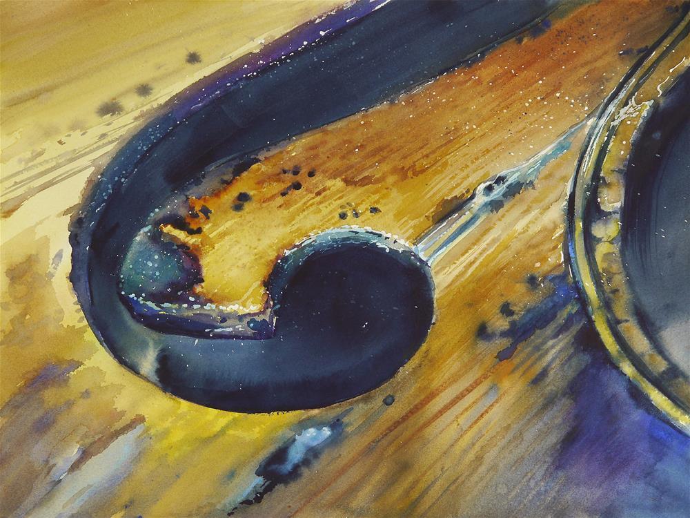 """violin_variation_1"" original fine art by Beata Musial-Tomaszewska"
