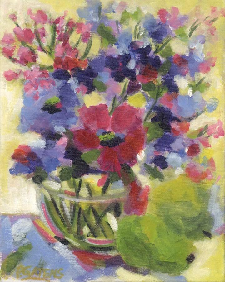 Purples and Pears original fine art by Pamela Gatens