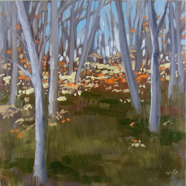 """Little Stand Of Birch"" original fine art by Nicki Ault"