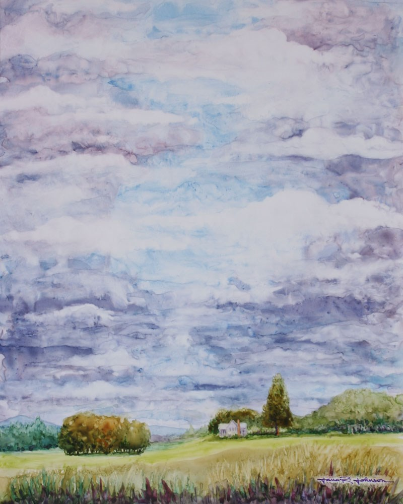 """Cloudy With Sun Breaks"" original fine art by Jana Johnson"