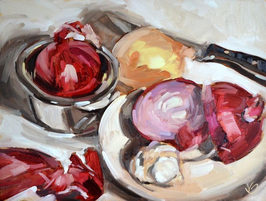 """Onions"" original fine art by Jessica Green"