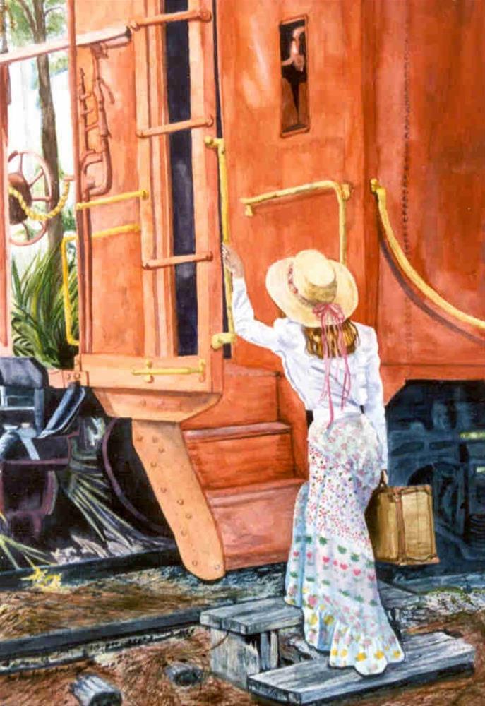 """All Aboard"" original fine art by Susan Duda"