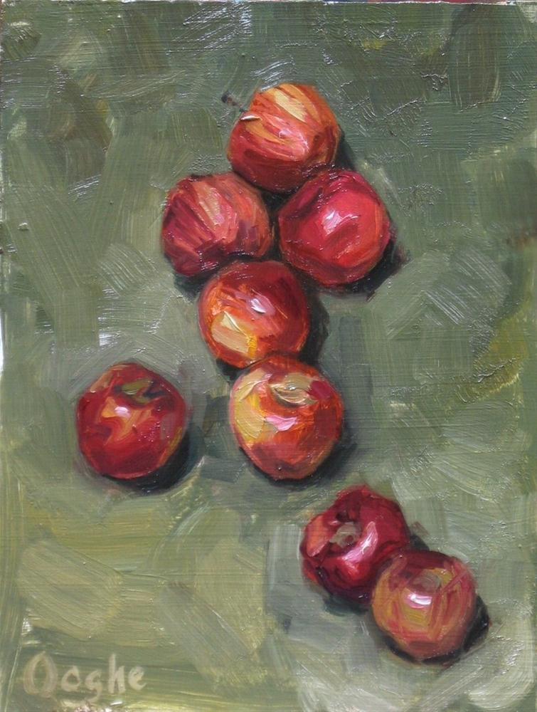 """Eight Apples"" original fine art by Angela Ooghe"
