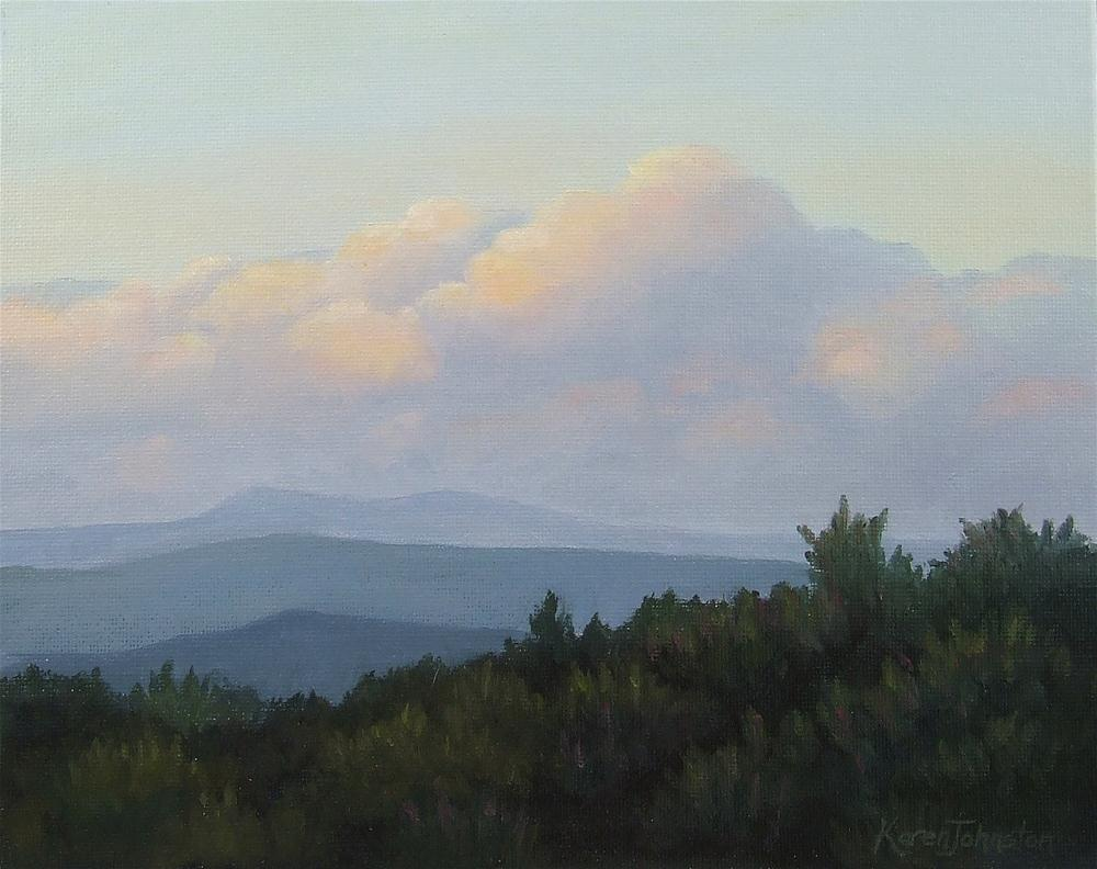 """Soft Evening Cloud"" original fine art by Karen Johnston"