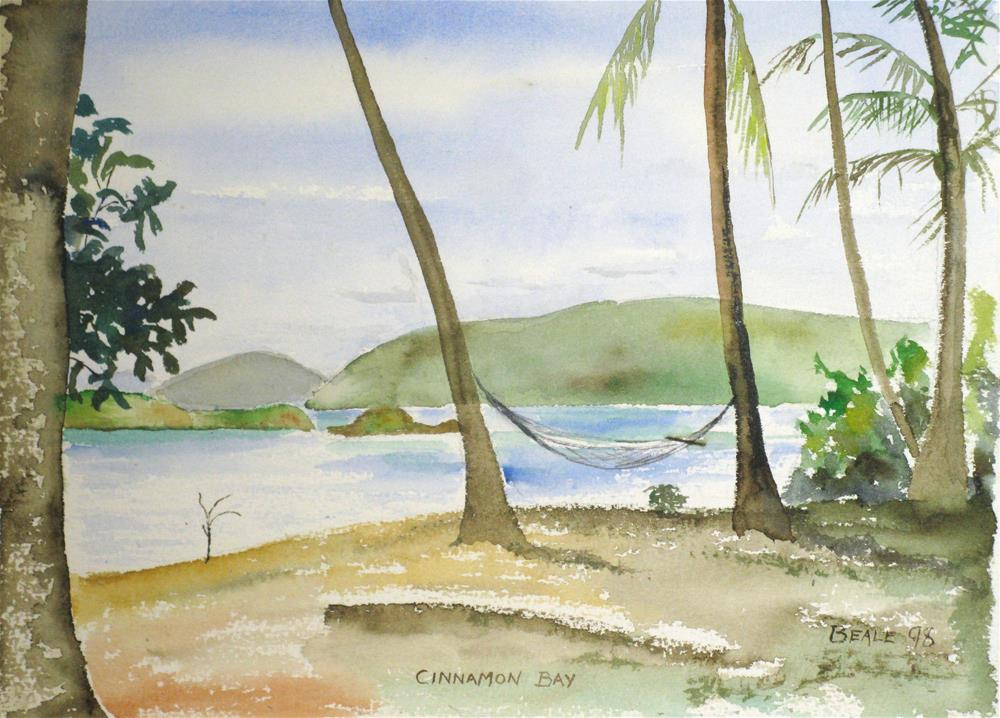 """Cinnamon Bay, St. John"" original fine art by  David Beale"