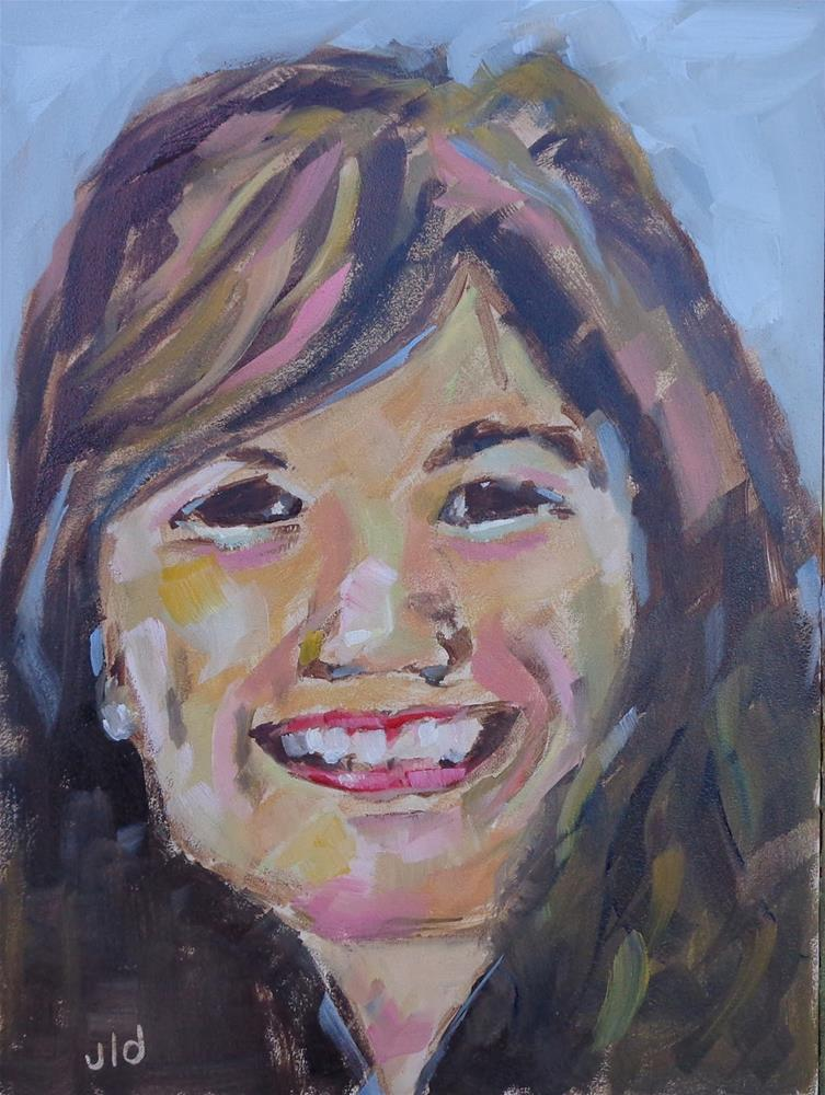 """Sarah"" original fine art by Jean Delaney"