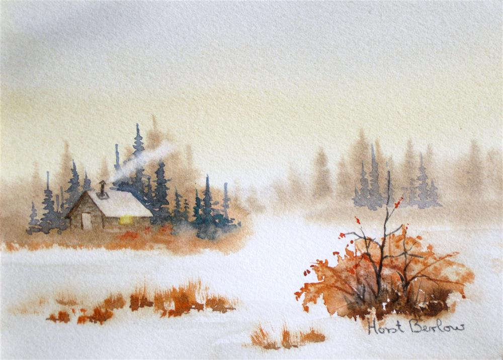 """Winter Morning"" original fine art by Horst Berlow"