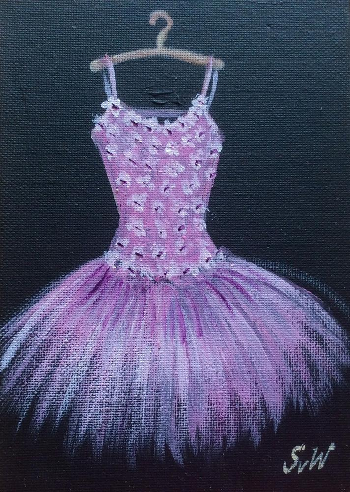 """Pink Toutou Dress"" original fine art by Sonia von Walter"