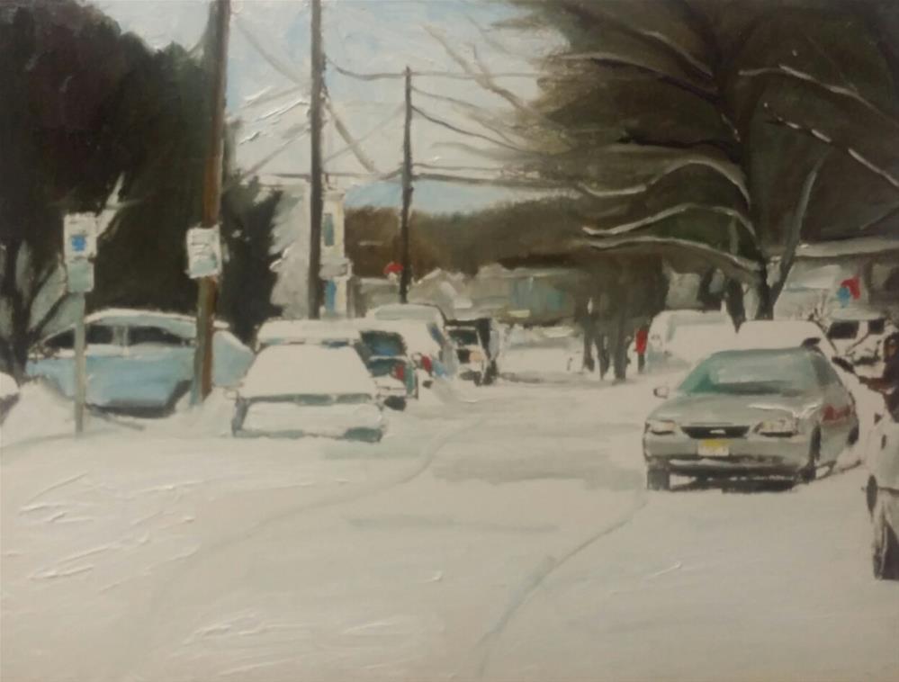 """Long Island (12 X 16 Oil on canvas paper - no frame)"" original fine art by Ramon DelRosario"