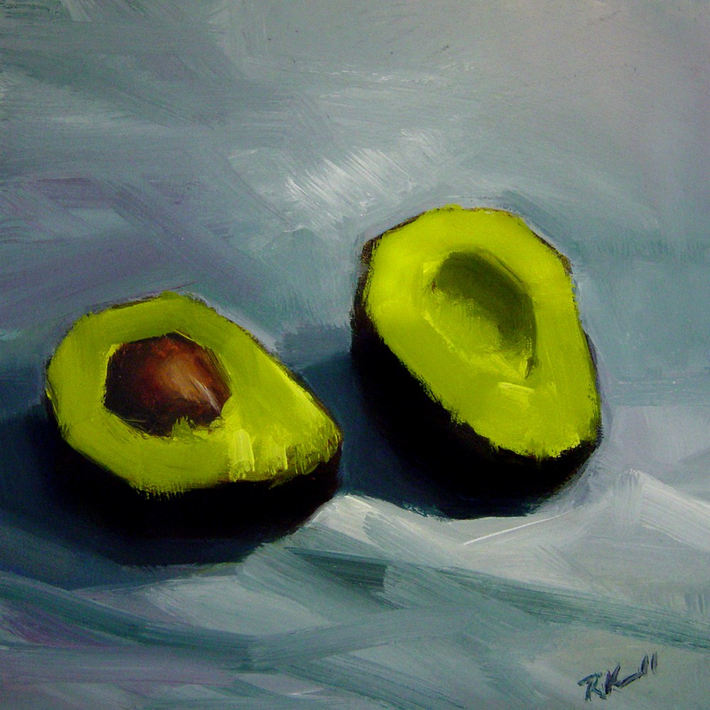 """A Split Avacado"" original fine art by Bob Kimball"