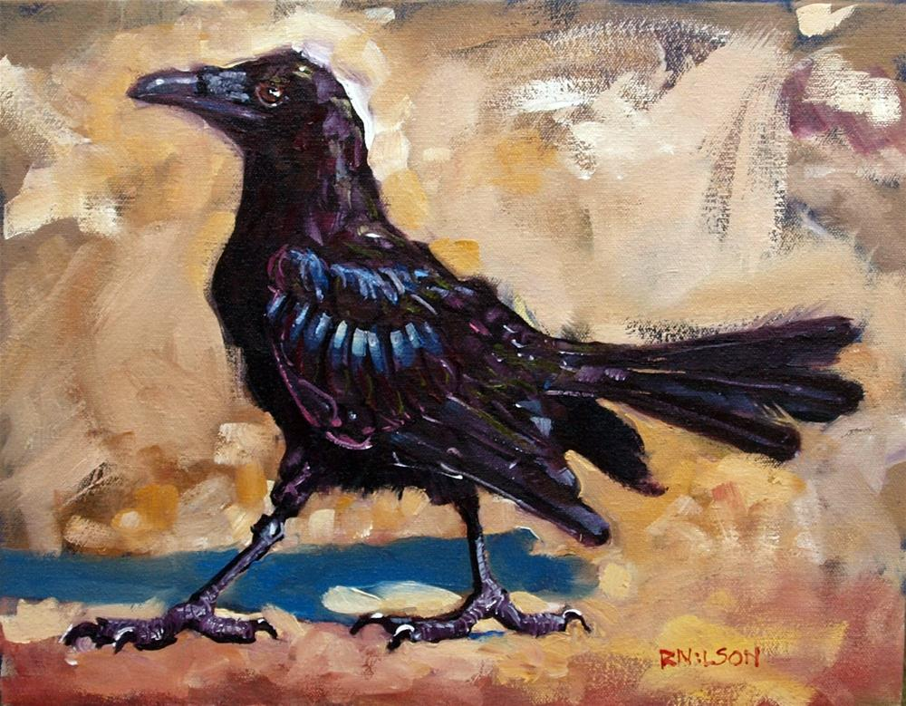 """Ole Crow"" original fine art by Rick Nilson"