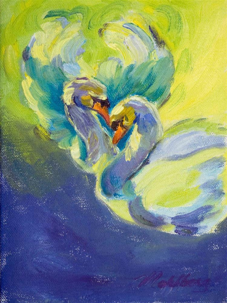 """Swan Song Two"" original fine art by Cynthia Mahlberg"