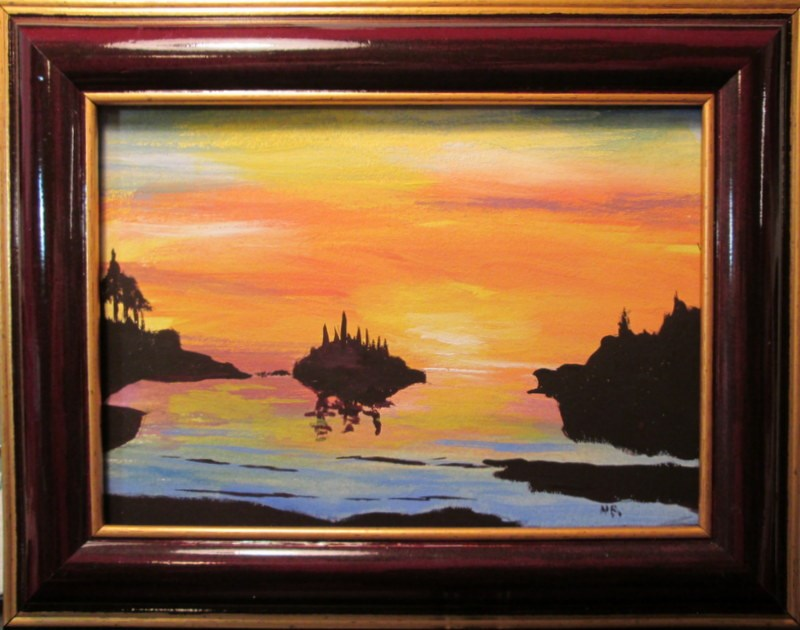 """Soundown On Sunset Bay"" original fine art by Norm Rossignol"