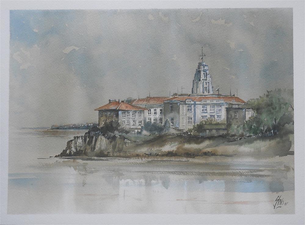 """The Naval College"" original fine art by Martin Stephenson"