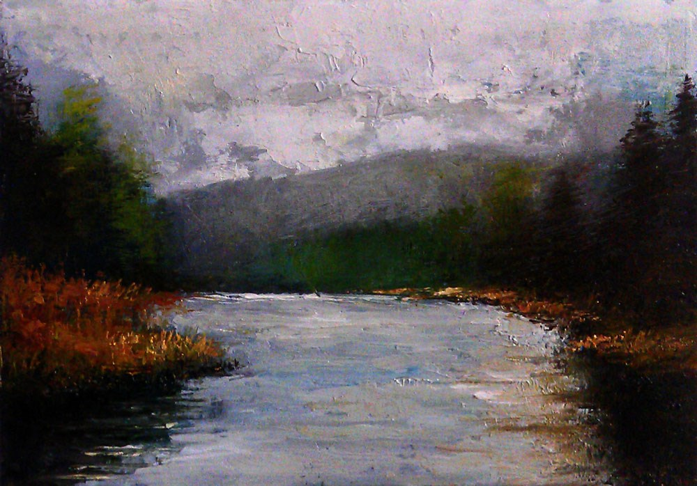 """Wide River"" original fine art by Bob Kimball"