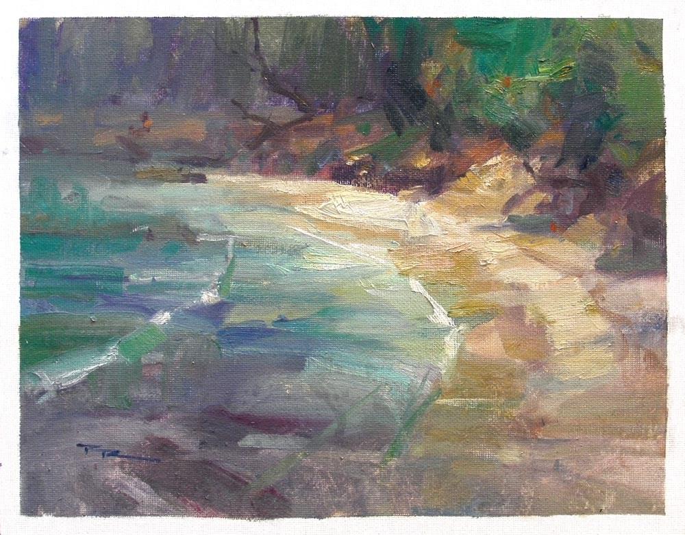 """""""Shelly Bay"""" original fine art by Richard Robinson"""