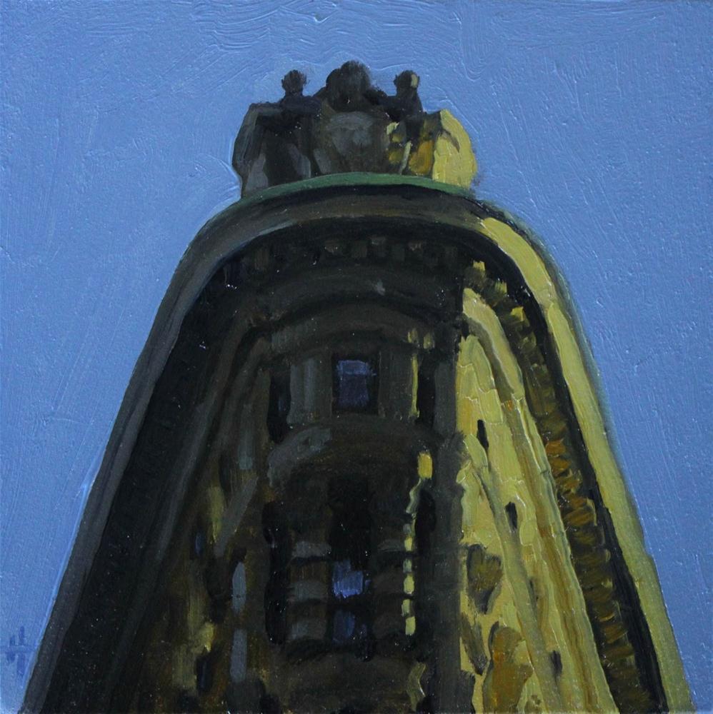 """High Atop the Flatiron Building"" original fine art by Ski Holm"