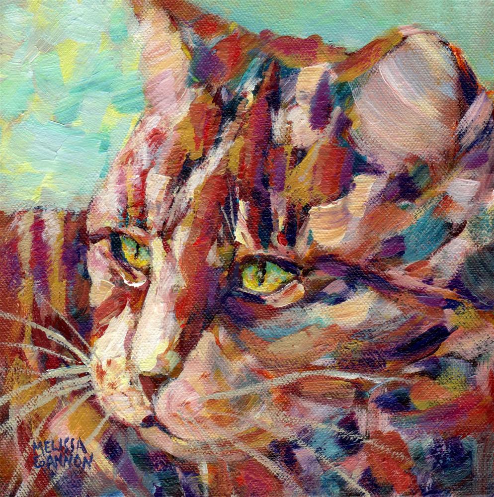 """Living the Kittycat Dream"" original fine art by Melissa Gannon"