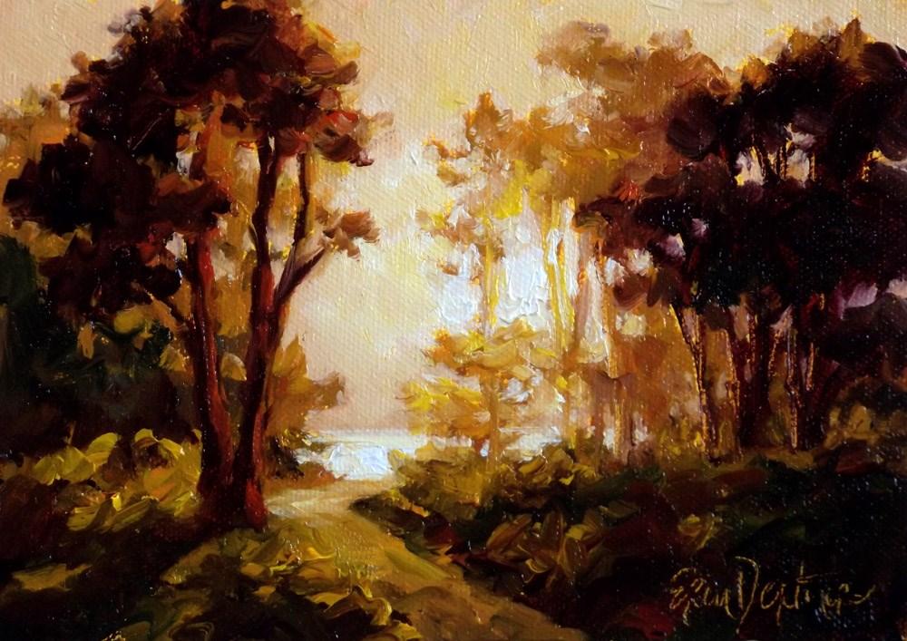 """""""Pathway to the Glistening Sea"""" original fine art by Erin Dertner"""