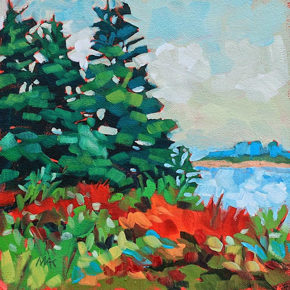 """Autumn Island"" original fine art by Mary Anne Cary"