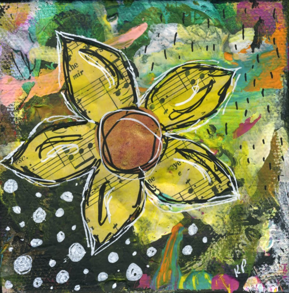 """Melodic Bloom"" original fine art by Kali Parsons"