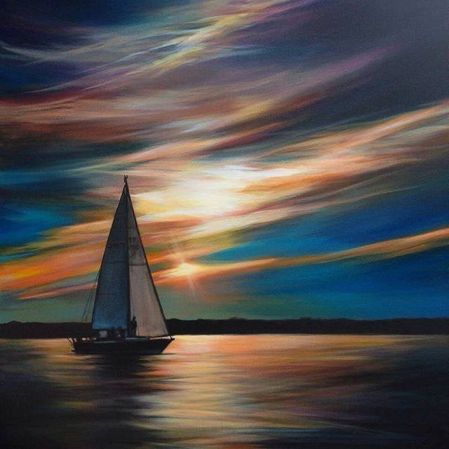 """Peace Of Twilight"" original fine art by Angela Hardy"