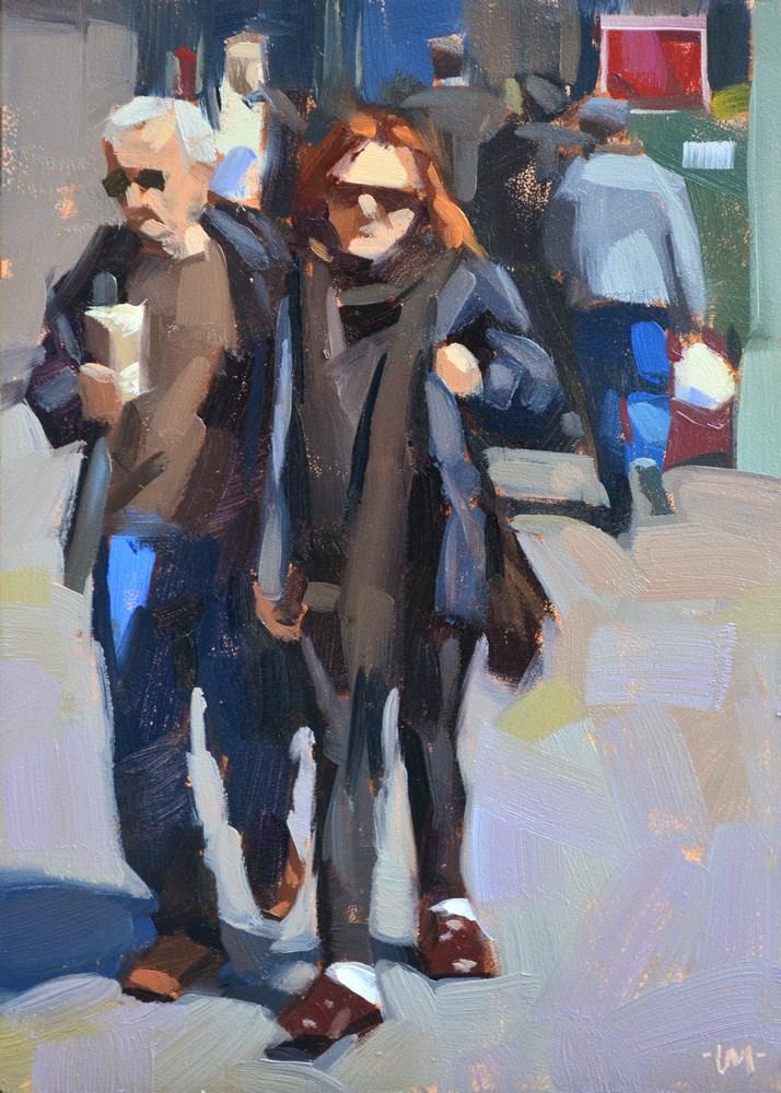 """""""Disgruntled NYC"""" original fine art by Carol Marine"""