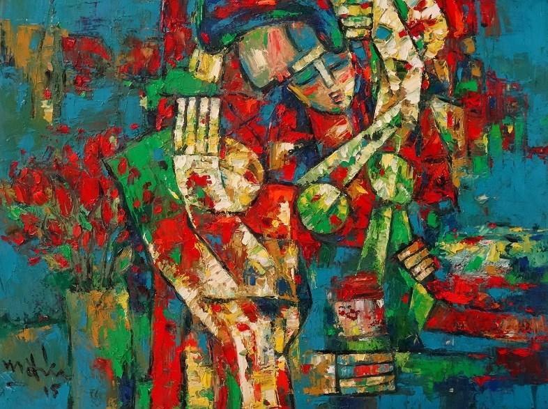"""Happiness"" original fine art by Duc Tran"
