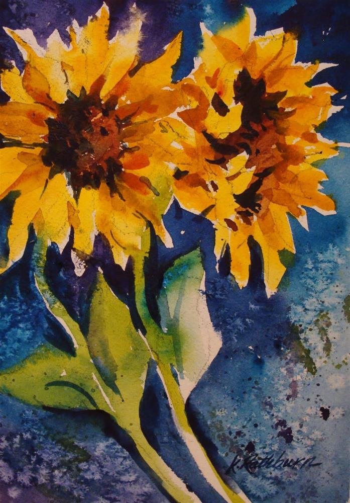 """More Sunflowers"" original fine art by Kathy Los-Rathburn"