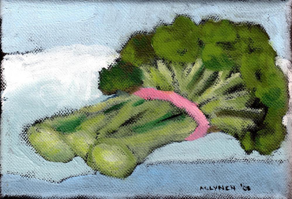"""""""Broccoli on a Cloud"""" original fine art by Marie Lynch"""